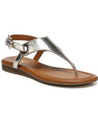 Franco Sarto - Grip Distressed Metallic Sandals - Lyst