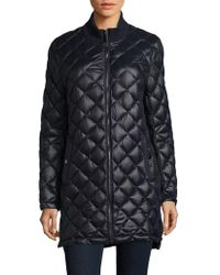 French Connection - Quilted Long Coat - Lyst