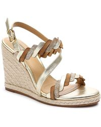 Tahari - Waver Metallic Espadrille Wedge Sandals - Lyst