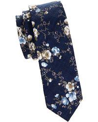 Original Penguin - Slim Floral Tie - Lyst