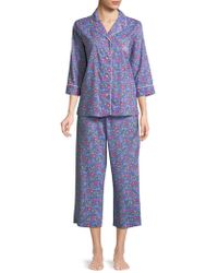 Lauren by Ralph Lauren - Two-piece Floral Pyjama Set - Lyst