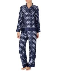 Lauren by Ralph Lauren - 2-piece Printed Satin Pyjama Set - Lyst