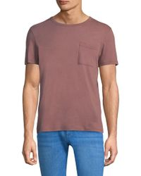 Theory - Heathered Cotton Tee - Lyst