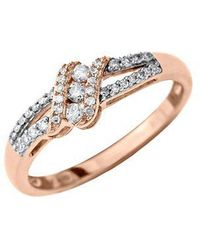 Lord & Taylor - 14kt. Rose Gold Diamond Ring - Lyst