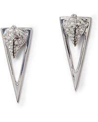 Vince Camuto - Crystal Pave Triangle Dangle & Drop Earrings - Lyst