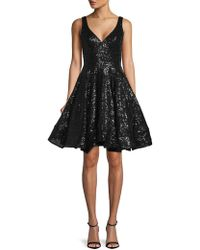 Mac Duggal - Leena Sequin Fit-&-flare Dress - Lyst