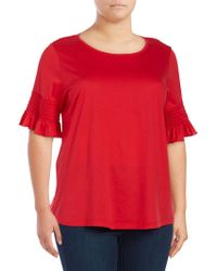 Lord & Taylor - Plus Smocked Bell-sleeve Top - Lyst
