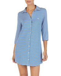 Lauren by Ralph Lauren - Stripe Sleep Shirt - Lyst