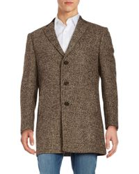 Tallia Orange - Velvet Collar Tweed Walker Coat - Lyst