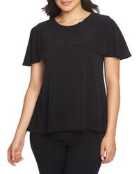 Chaus - Graceful Blooms Layered Ruffle Crepe Top - Lyst