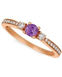 Le Vian - 14k Strawberry Gold & Grape Amethyst Ring - Lyst