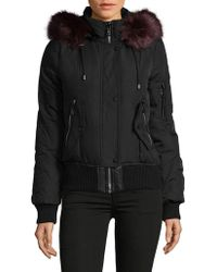 Vince Camuto - Down-filled Snap Faux Fur Bomber Coat - Lyst