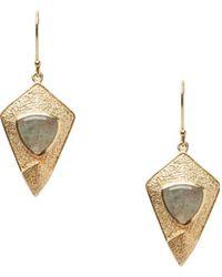 Sole Society - Goldtone & Labradorite Kite Earrings - Lyst