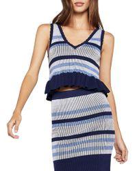 BCBGeneration - Striped Knit Sleeveless Top - Lyst