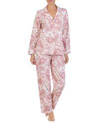 Lauren by Ralph Lauren - Petite Two-piece Paisley-print Cotton Pajama Set - Lyst