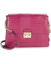 CALVIN KLEIN 205W39NYC - Flap Leather Crossbody Bag - Lyst