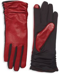Lord & Taylor - Ruched Contrast Tech Gloves - Lyst