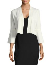 CALVIN KLEIN 205W39NYC - Bell-sleeve Cropped Cardigan - Lyst