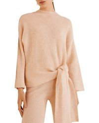 Mango - Knotted Front Sweater - Lyst