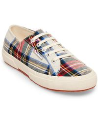 Superga - 2750 Tartan Lace Up Sneakers - Lyst