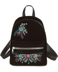 Lord & Taylor - Embroidered Velvet Backpack - Lyst