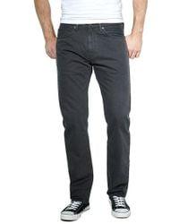 Levi's - 505 Regular-fit Graphite Twill Jeans - Lyst