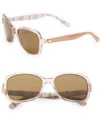 Kate Spade - Ayleen 56mm Square Sunglasses - Lyst