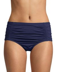 Tommy Bahama - Pearl Solids Shirred High-waist Bikini Bottom - Lyst