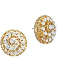 Badgley Mischka - Crystal Swirl Stud Earrings - Lyst