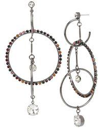 BCBGeneration - Hematite Multi-ring Chandelier Earrings - Lyst