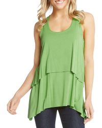 Karen Kane - Raw Hem Layered Tank Top - Lyst