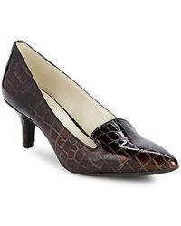 Anne Klein - Felice Embossed Court Shoes - Lyst
