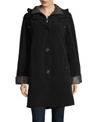 Gallery - Button-front Raincoat - Lyst