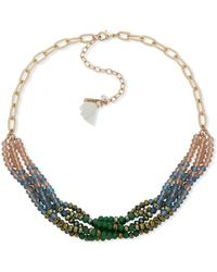 Lonna & Lilly - Ombre Bead Collar Necklace - Lyst