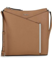 Calvin Klein - Mara Leather Crossbody Bag - Lyst
