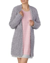 Ellen Tracy - Textured Open-front Robe - Lyst