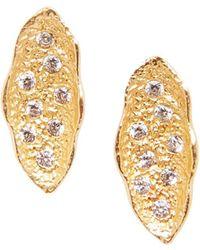 Sole Society - Crystal Organic-shaped Stud Earrings - Lyst