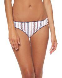 82daec3f8c404 Jessica Simpson - Textured Side-shirred Bikini Bottoms - Lyst