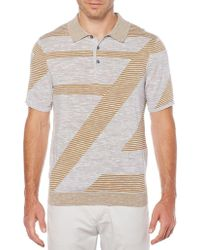Perry Ellis - Geometric Striped Polo - Lyst