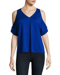 Ellen Tracy - Cold-shoulder V-neck Top - Lyst
