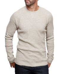 Lucky Brand - Thermal Cotton Sweatshirt - Lyst