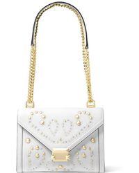 e110634db2e9 Michael Michael Kors Whitney Studded Large Leather Shoulder Bag in ...