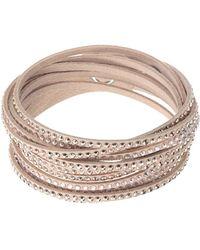 Swarovski - Slake Nude Crystal-accented Wrap Bracelet - Lyst
