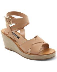 Kensie - Venezia Cross-strap Wedge Sandals - Lyst