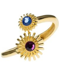 Kenneth Jay Lane Faceted Flower Cuff Bracelet