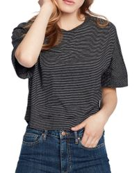 Ella Moss - Striped Cotton Cropped Top - Lyst