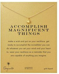 Dogeared 'accomplish Magnificent Things' Starburst Charm Necklace