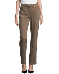 Jones New York - Lexington Mid-rise Straight Jeans - Lyst