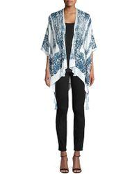 Vince Camuto - Floral Kimono Sleeve Shawl - Lyst