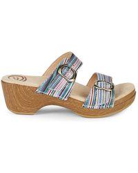 Dansko - Sophie Multi-striped Clog Sandals - Lyst